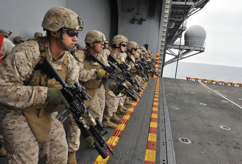 美国海军陆战队敢在此时进台湾?