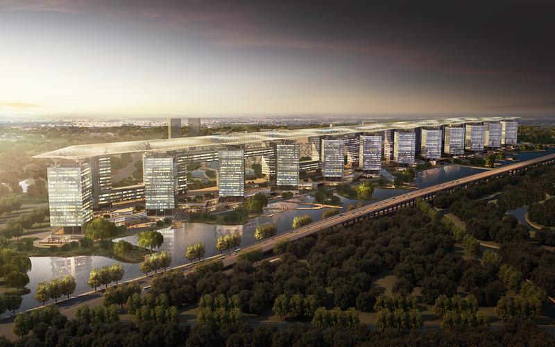 世界城市群大数据屏上,以上海松江为策源地的长三角G60科创走廊,为何聚成光带(图3)
