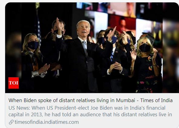 """[转帖]印度先找到了!拜登的""""曾曾曾曾曾祖父"""""""