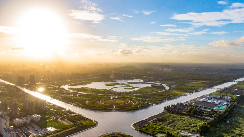 李强书记连续两天跑郊区,今赴奉贤调研河长制,看特色产业和新城建