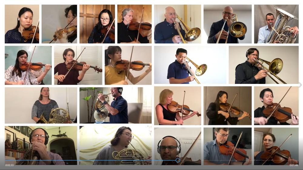 视频 | 太强了!纽约爱乐上海乐队学院云合奏,外国观众看呆