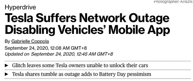 """车主被困沙漠无法救援,特斯拉全球狂损2700亿,神车要""""下台""""了?"""