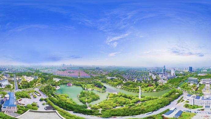 世界城市群大数据屏上,以上海松江为策源地的长三角G60科创走廊,为何聚成光带(图1)