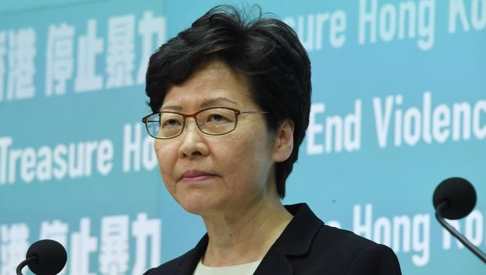 环球网 林郑月娥回应美国制裁措施:任何制裁都不会吓怕我们